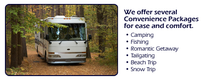 Idaho RV Rental Convenience Packages